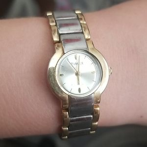 TIMEX Gold and Silver Tone Women's Watch